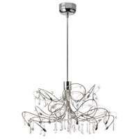 Crystal 20 Light 24 inch Polished Chrome Chandelier Ceiling Light