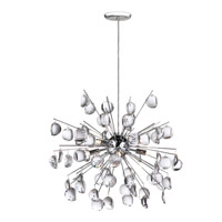 Dainolite Lighting Crystal 6 Light Pendant in Polished Chrome  189-19-PC