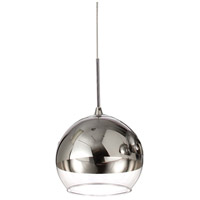 Dainolite Cluster 1 Light Pendant in Polished Chrome 2101P-PC