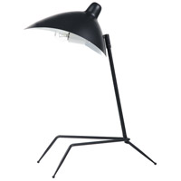 Dainolite 210T-MB Signature 21 inch 60 watt Matte Black Table Lamp Portable Light