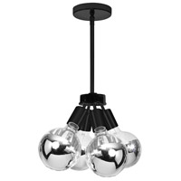 Signature 4 Light 6 inch Matte Black Pendant Ceiling Light