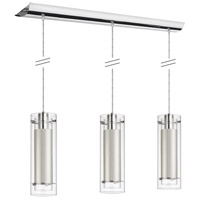Dainolite Signature 3 Light Pendant in Polished Chrome with White Shade 22153-790-PC