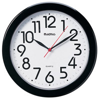 Clock Black Decorative Accessory