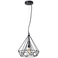 Dainolite Luive 1 Light Pendant in Matte Black 242-141P-BK