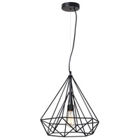 Dainolite Luive 1 Light Pendant in Matte Black 242-181P-BK