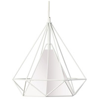 Signature 1 Light 14 inch White Pendant Ceiling Light