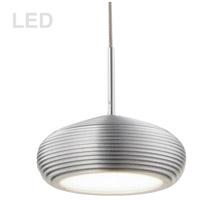 Dainolite 281LED-1P-AL Signature LED 5 inch Aluminum Pendant Ceiling Light