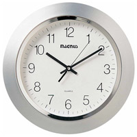 Clock Silver Decorative Accessory