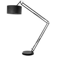 Dainolite 303F-BK Adjustable 75 inch 40 watt Black/Black Floor Lamp Portable Light Decorative