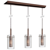 Mesh with Glass 3 Light 6 inch Oil Brushed Bronze Pendant Ceiling Light
