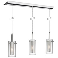 Mesh with Glass 3 Light 6 inch Polished Chrome Pendant Ceiling Light