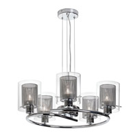 Dainolite Casual 5 Light Dinette Chandelier in Polished Chrome 30965-PC photo thumbnail