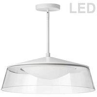 Dainolite 3145-LEDP18-CL-MW Signature LED 18 inch Matte White Pendant Ceiling Light