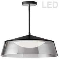 Dainolite 3145-LEDP18-SM-MB Signature LED 18 inch Matte Black Pendant Ceiling Light