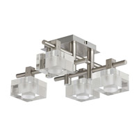 Dainolite Lattice 4 Light Flush Mount in Satin Chrome 3394FH-SC