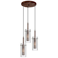 Dainolite Lighting Mesh with Glass 3 Light Pendant in Oil Brushed Bronze  33963R-CM-OBB