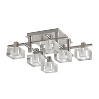 Dainolite Lattice 6 Light Flush Mount in Satin Chrome 3396FH-SC