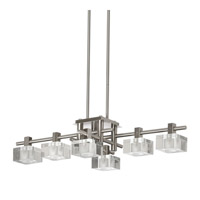 Dainolite Lattice 6 Light Pendant in Satin Chrome 3398P-SC