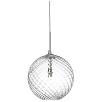 Dainolite Signature 1 Light Pendant in Polished Chrome 362-101P-PC-CLR