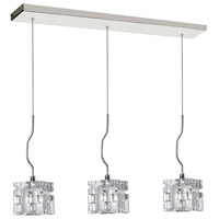 Dainolite Lighting Crystal 3 Light Pendant in Polished Chrome  381-3P-PC photo thumbnail