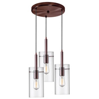Nostalgia 3 Light 15 inch Oil Brushed Bronze Pendant Ceiling Light