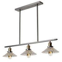 Signature 3 Light 34 inch Vintage Steel Pendant Ceiling Light