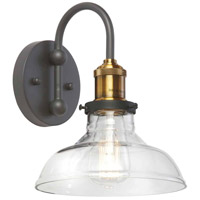 Dainolite 410-61W-BAB Signature LED 10 inch Black and Antique Brass Wall Sconce Wall Light
