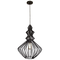 Signature 1 Light 17 inch Matte Black Pendant Ceiling Light