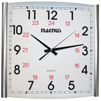 Dainolite Lighting Clock Decorative Accessory in Silver  4612