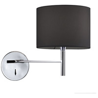 Dainolite 463-1W-PC-BK Signature 1 Light 7 inch Polished Chrome Wall Sconce Wall Light