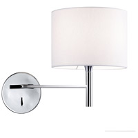 Dainolite 463-1W-PC-WH Signature 1 Light 7 inch Polished Chrome Wall Sconce Wall Light in White