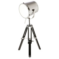 Dainolite Signature 1 Light Table Lamp in Chrome and Black 5552T-PC