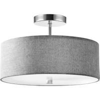 Dainolite 571-143SF-PC-GRY Signature 3 Light 14 inch Polished Chrome Semi Flush Mount Ceiling Light