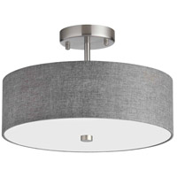 Dainolite Satin Chrome Semi-Flush Mounts