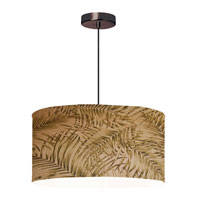Dainolite Lighting Shade Fixture 3 Light Pendant in Oil Brushed Bronze  571809-220-OBB photo thumbnail