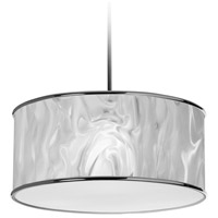Dainolite Ice 3 Light Pendant in Polished Chrome with White Ice Shade 57208P-PC-771