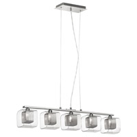 Dainolite Lighting Mesh with Glass 5 Light Pendant in Polished Chrome  60155-CM-SC