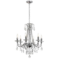 Formal 6 Light 24 inch Polished Chrome Chandelier Ceiling Light