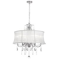 Dainolite Formal 6 Light 27 inch Polished Chrome Chandelier Ceiling Light