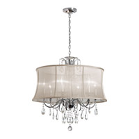 Dainolite Formal 9 Light Chandelier in Polished Chrome with Oyster Organza Shade 615-369C-PC-117