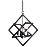 Signature 4 Light 23 inch Black Pendant Ceiling Light, Adjustable