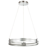 Dainolite 722-LEDP24-SV Pono LED 24 inch Silver and Polished Chrome Pendant Ceiling Light