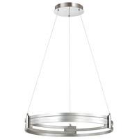 Dainolite 722-LEDP24-SV Pono LED 24 inch Silver and Polished Chrome Pendant Ceiling Light