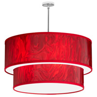 Dainolite Signature 6 Light Pendant in Red Ice/Polished Chrome 723017S-772-PC