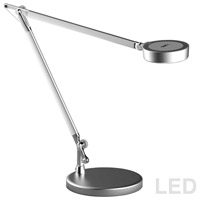 Dainolite 779LEDT-SV Signature 17 inch 4.8 watt Silver Table Lamp Portable Light, Adjustable