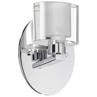 Dainolite Lighting Frosted Oval 1 Light Vanity in Polished Chrome  809-1W-PC