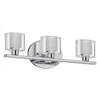 Dainolite Lighting Frosted Oval 3 Light Vanity in Polished Chrome  809-3W-PC