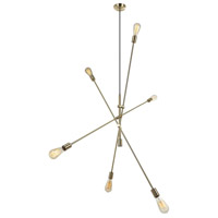Dainolite 816P-AGB Signature 6 Light 50 inch Aged Brass Pendant Ceiling Light