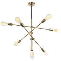Adjustable LED 28 inch Aged Brass Pendant Ceiling Light