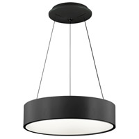 Dainolite 825-LEDP18-BK Signature 1 Light 18 inch Black Pendant Ceiling Light